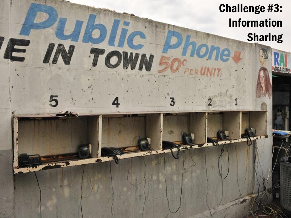 Challenge #3: Information Sharing