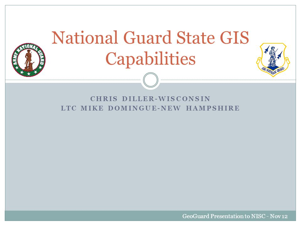 Overview Role of the National Guard.Council of Governors and SSA.