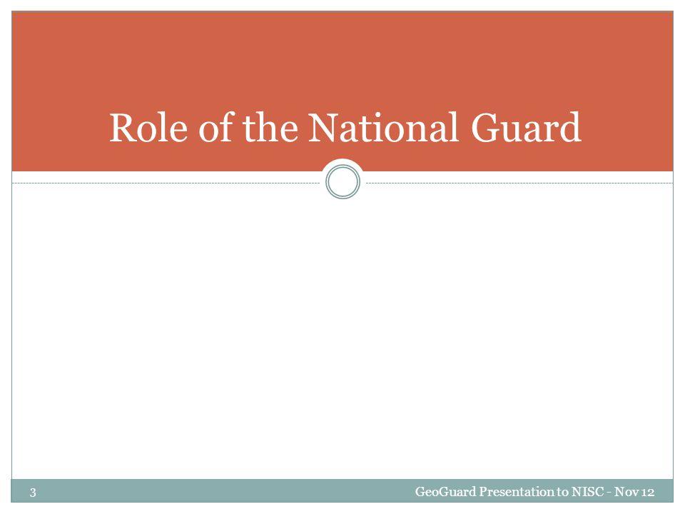 GeoGuard Presentation to NISC - Nov 12 14