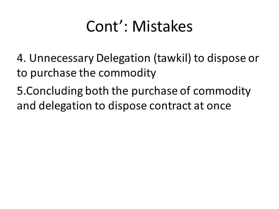 Cont': Mistakes 4.