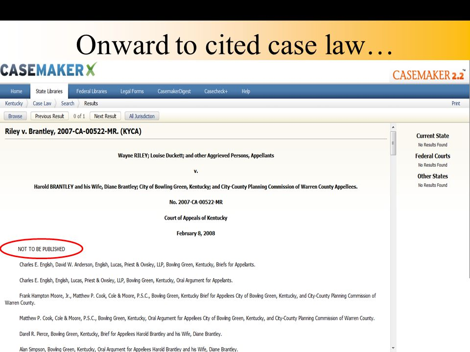 Onward to cited case law…