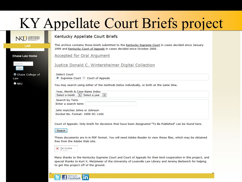 KY Appellate Court Briefs project