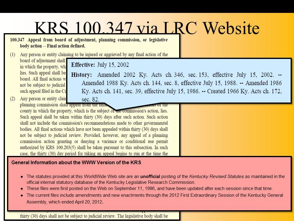 KRS 100.347 via LRC Website
