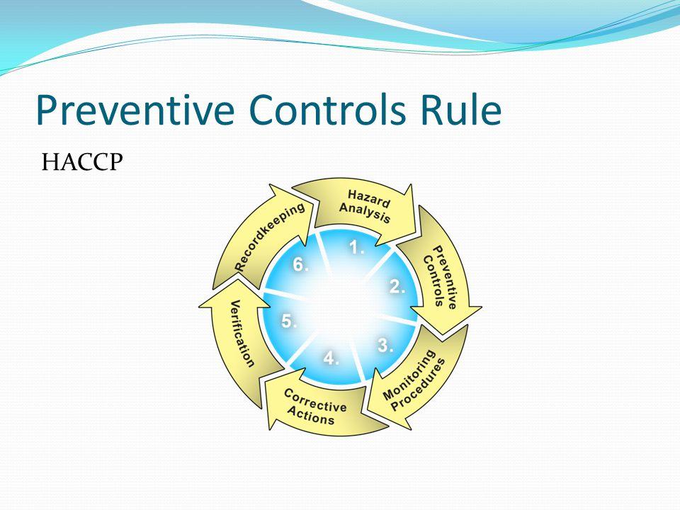 Preventive Controls Rule HACCP