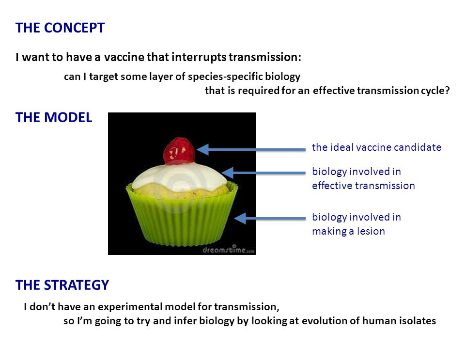 I want to have a vaccine that interrupts transmission: can I target some layer of species-specific biology that is required for an effective transmission cycle.