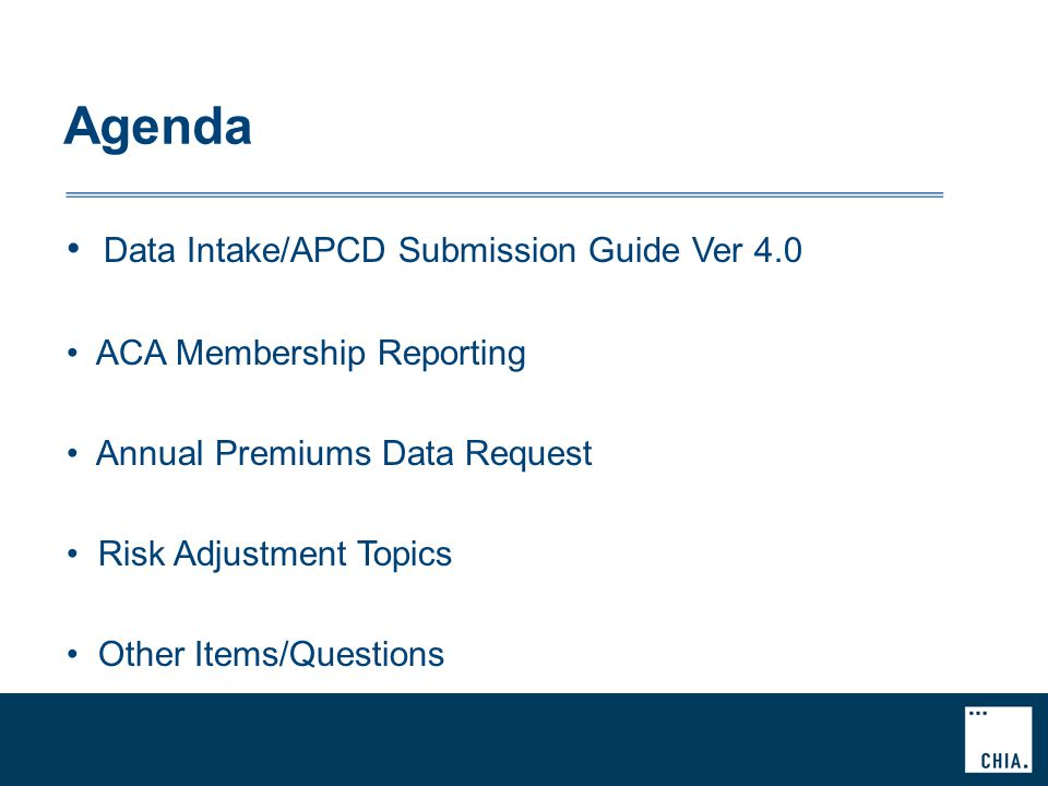 Vers 4.0 Submission Guides Final Guides posted to CHIA website Redline version of Final Guides available