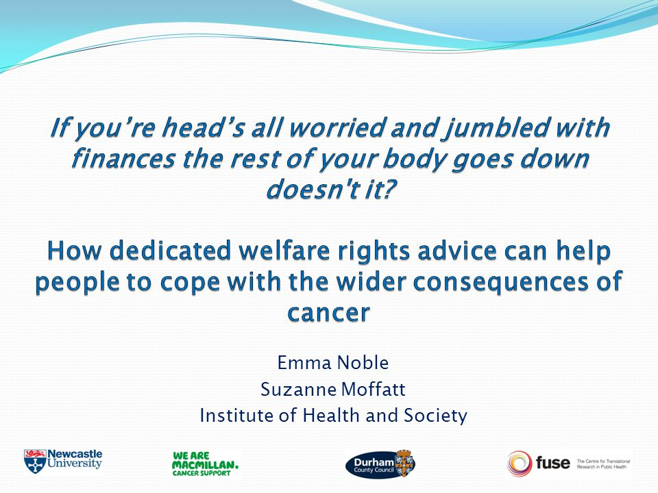 Emma Noble Suzanne Moffatt Institute of Health and Society