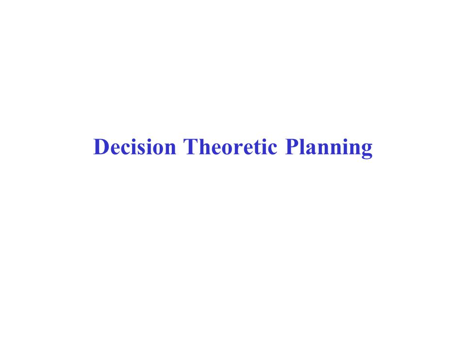 Overview  Brief review of simpler decision making problems one-off decisions sequential decisions  Decision processes and Markov Decision Processes (MDP)  Rewards and Optimal Policies  Defining features of Markov Decision Process  Solving MDPs Value Iteration Policy Iteration  POMDPs