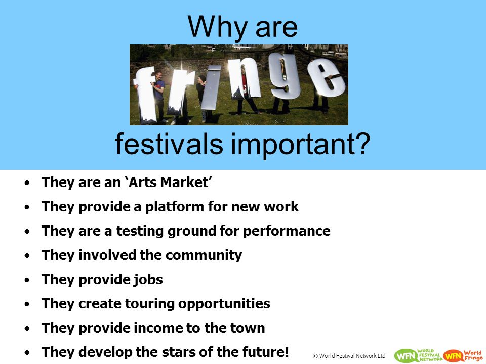 Why are festivals important.
