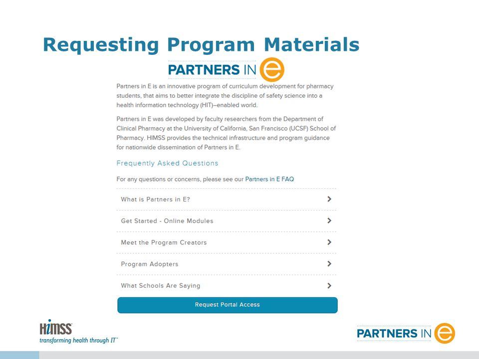 Requesting Program Materials
