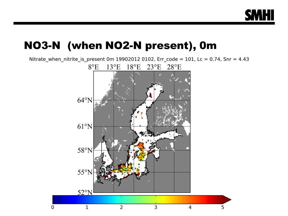 NO3-N (when NO2-N present), 0m