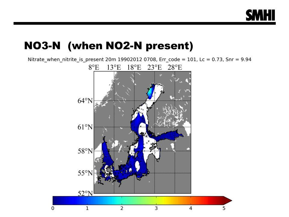 NO3-N (when NO2-N present)