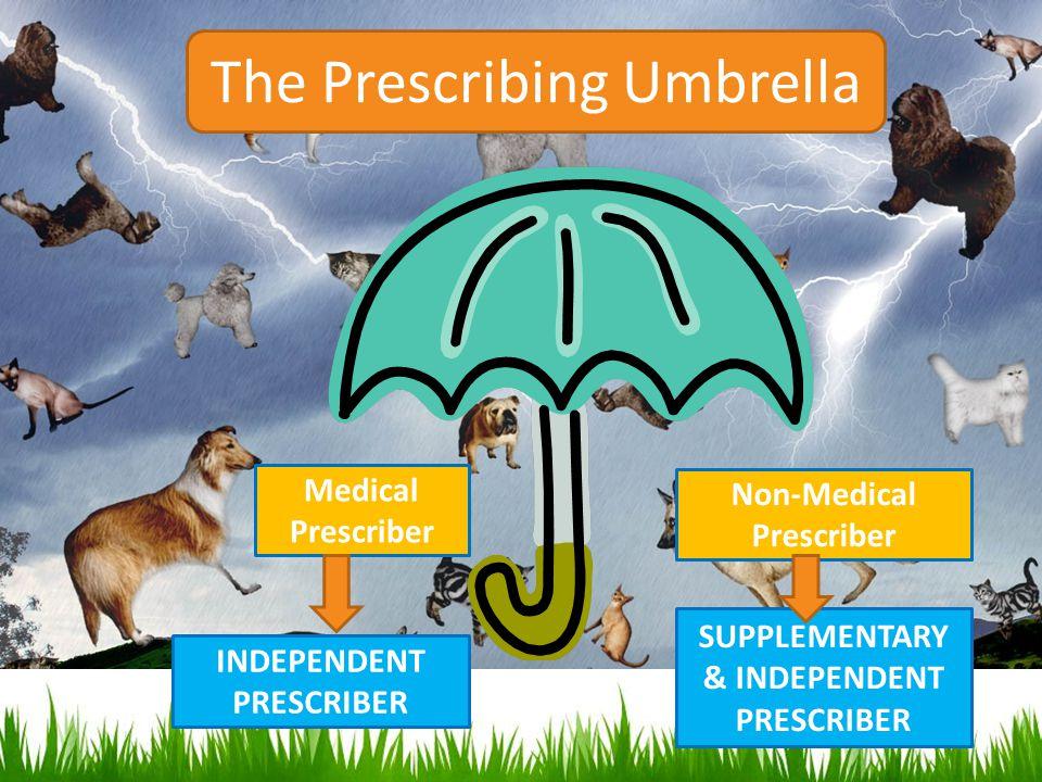 INDEPENDENT PRESCRIBER SUPPLEMENTARY & INDEPENDENT PRESCRIBER The Prescribing Umbrella Non-Medical Prescriber Medical Prescriber
