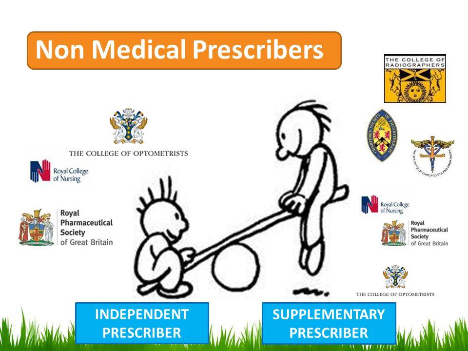 Non Medical Prescribers INDEPENDENT PRESCRIBER SUPPLEMENTARY PRESCRIBER