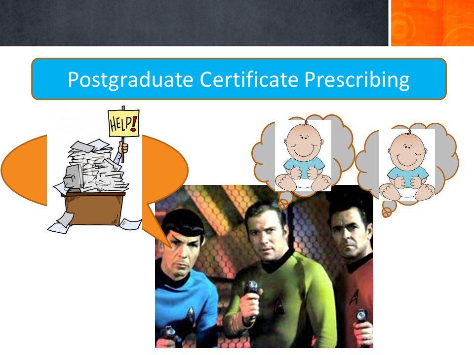 Postgraduate Certificate Prescribing