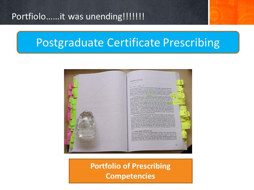 Portfiolo……it was unending!!!!!!.