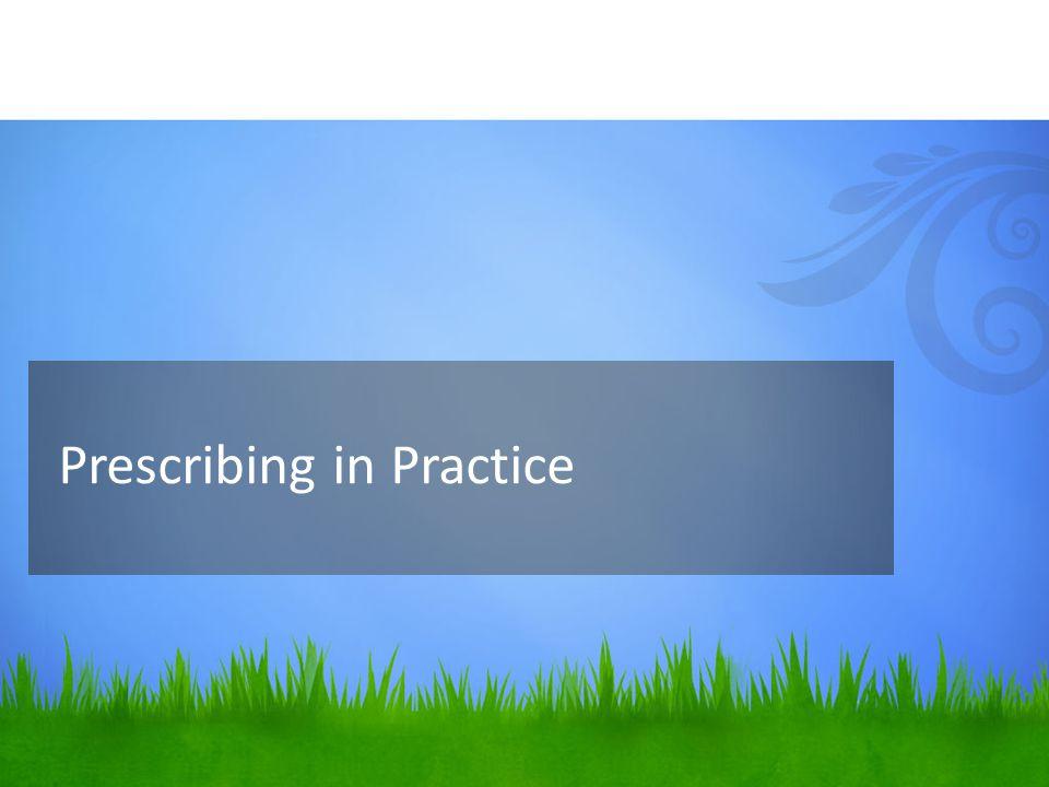 Prescribing in Practice