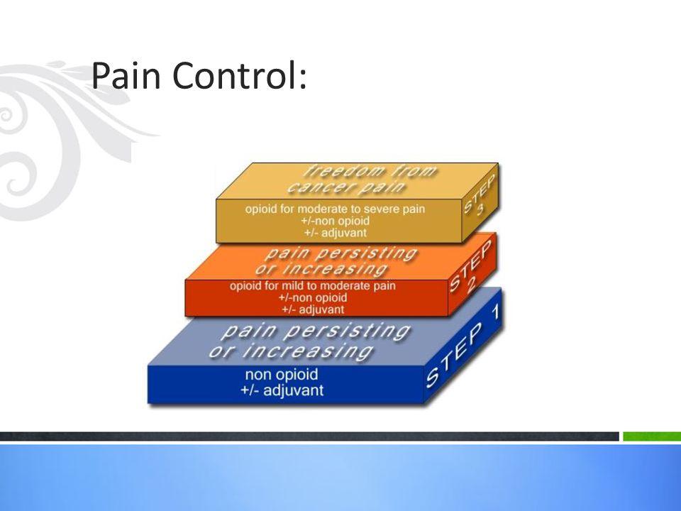 Pain Control: