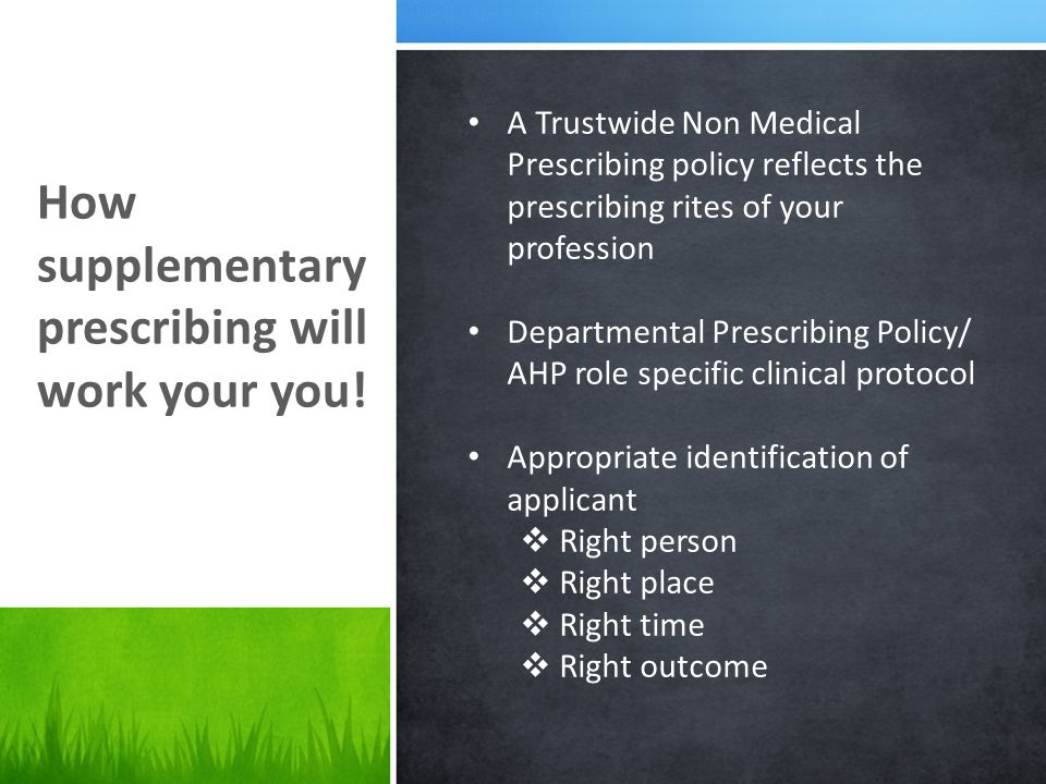 How supplementary prescribing will work your you.