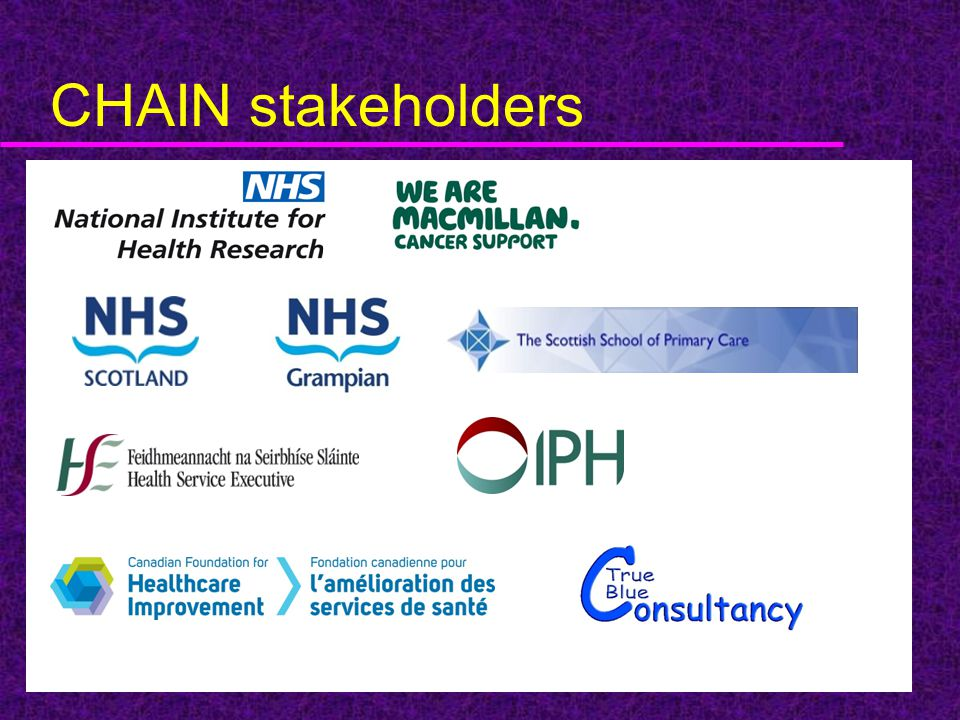 CHAIN stakeholders