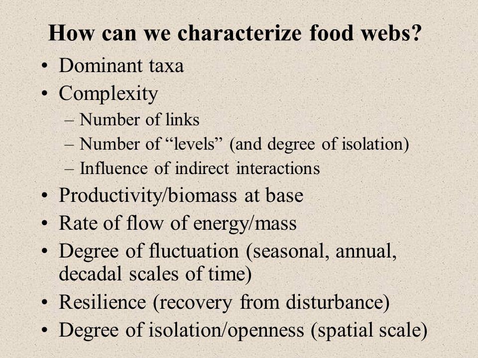 Food webs, high latitudes