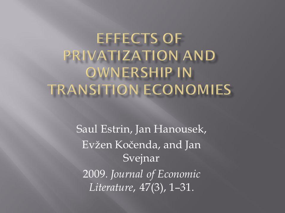 Saul Estrin Professor and Head of Dept.