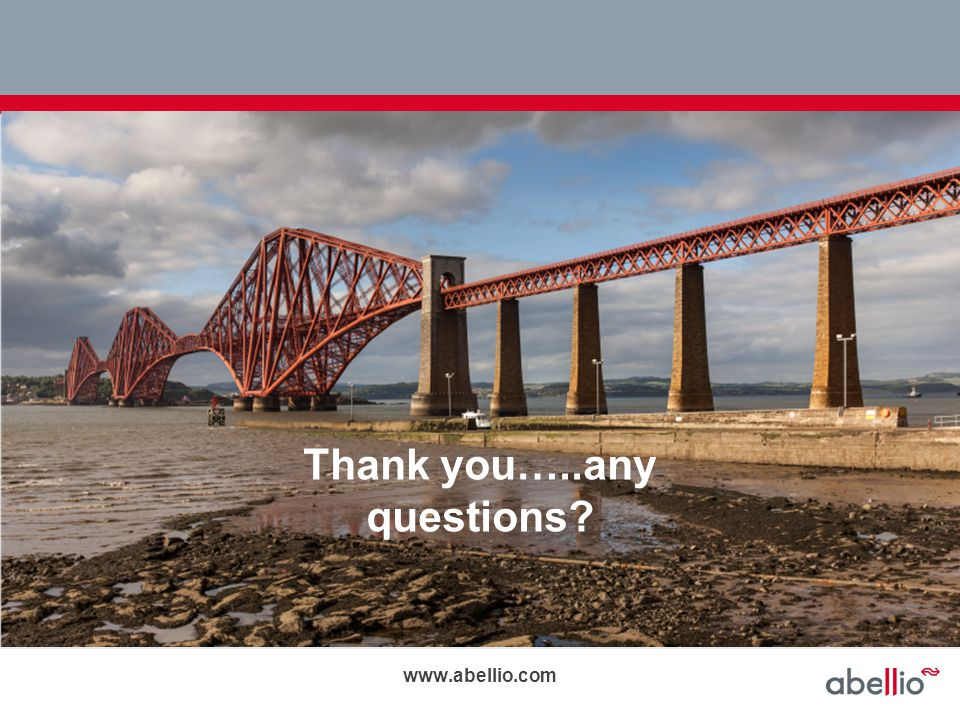 Thank you…..any questions? www.abellio.com