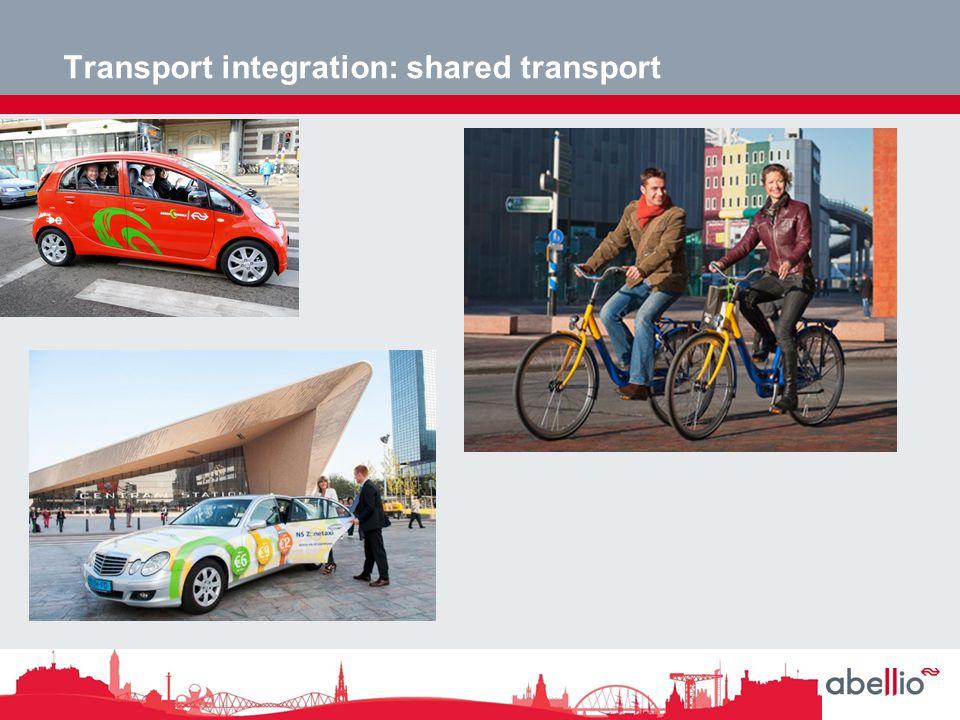 Transport integration: shared transport