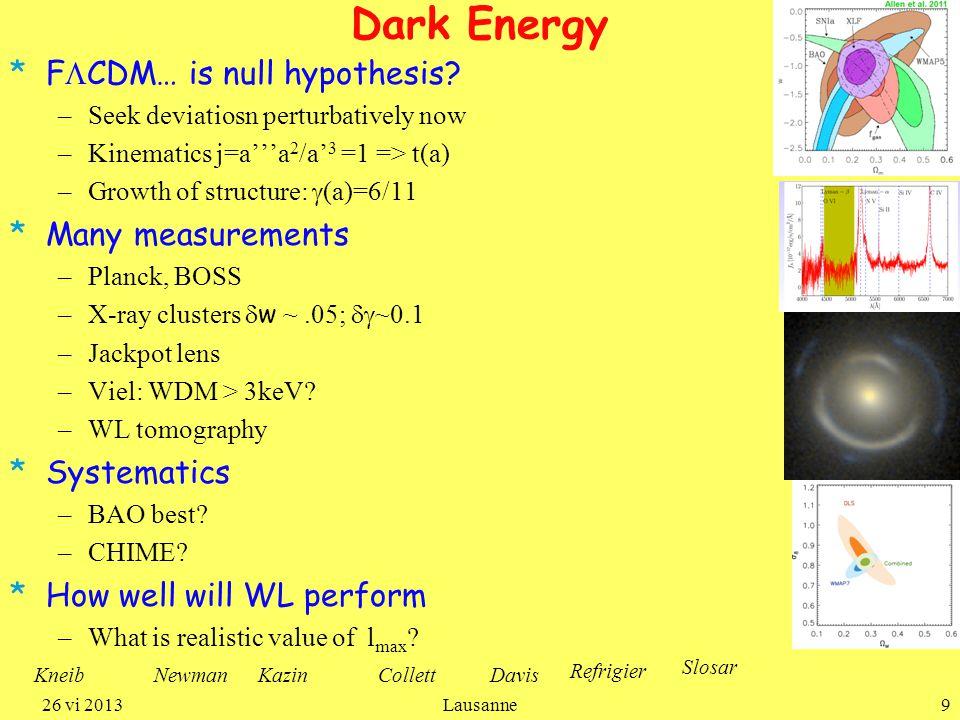 Dark Energy *F  CDM… is null hypothesis.