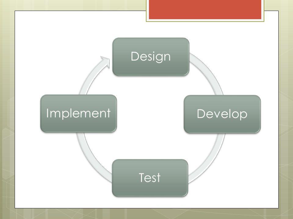 Design Develop Test Implement
