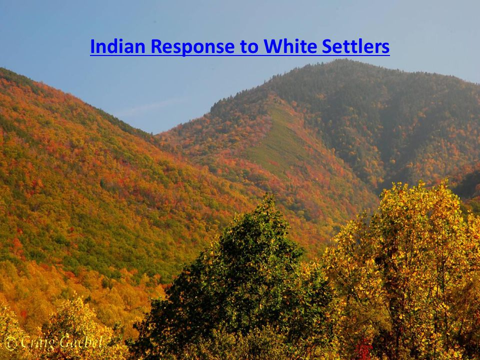 Indian Response to White Settlers