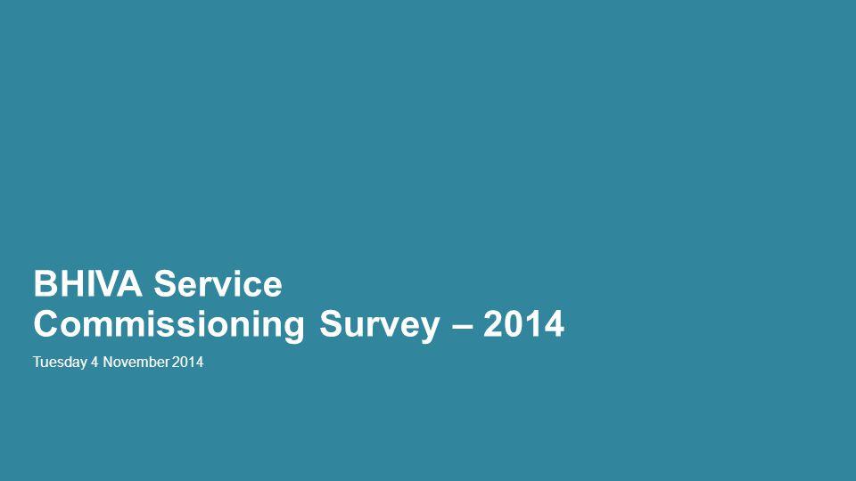 BHIVA Service Commissioning Survey – 2014 Tuesday 4 November 2014