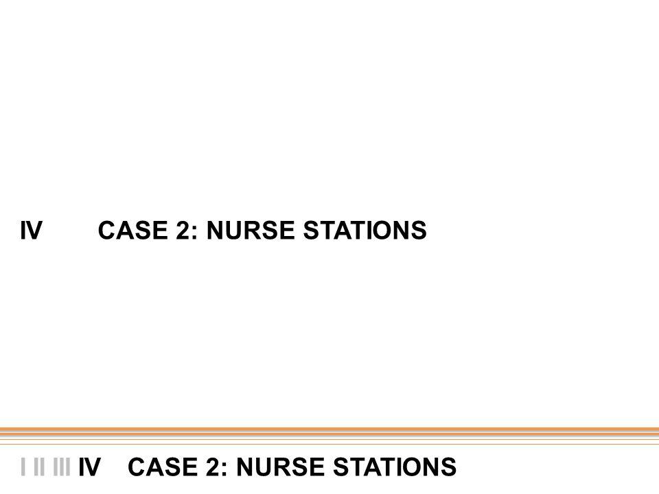 IV CASE 2: NURSE STATIONS II CASE 2: NURSE STATIONS I IIIIV