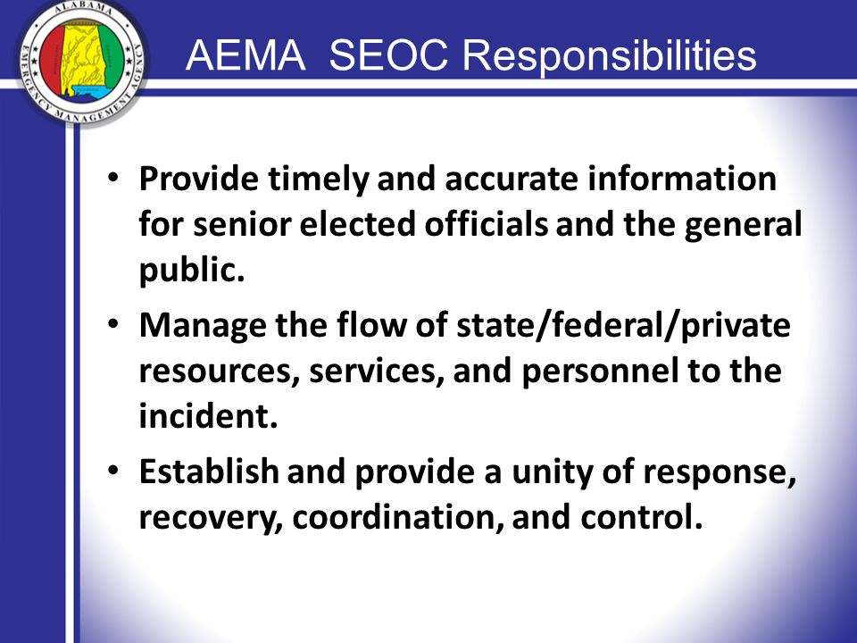 Provide timely and accurate information for senior elected officials and the general public.