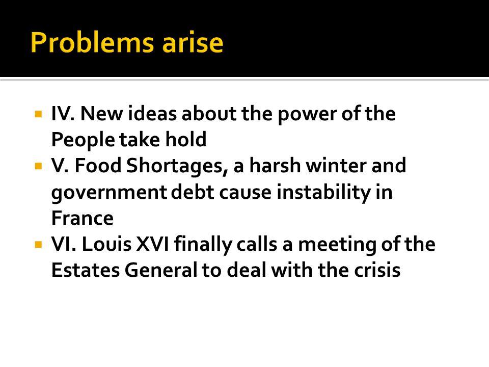 VII.Third Estate delegates in the Estates- General demand more rights VIII.