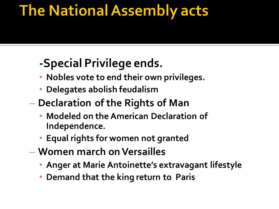 -Special Privilege ends. Nobles vote to end their own privileges.