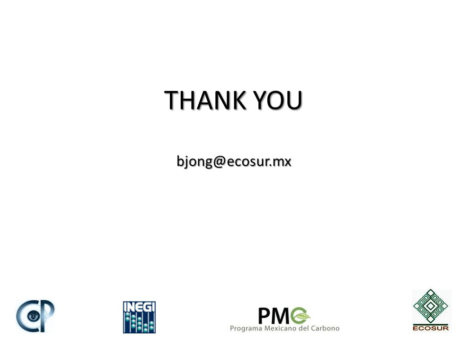 THANK YOU bjong@ecosur.mx