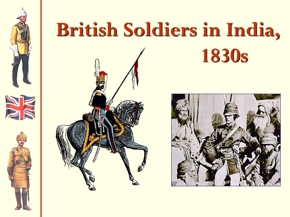 British Soldiers in India, 1830s