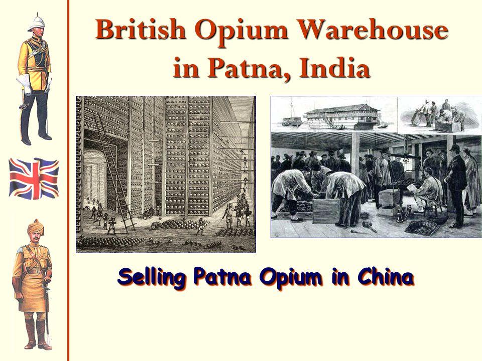 British Opium Warehouse in Patna, India Selling Patna Opium in China
