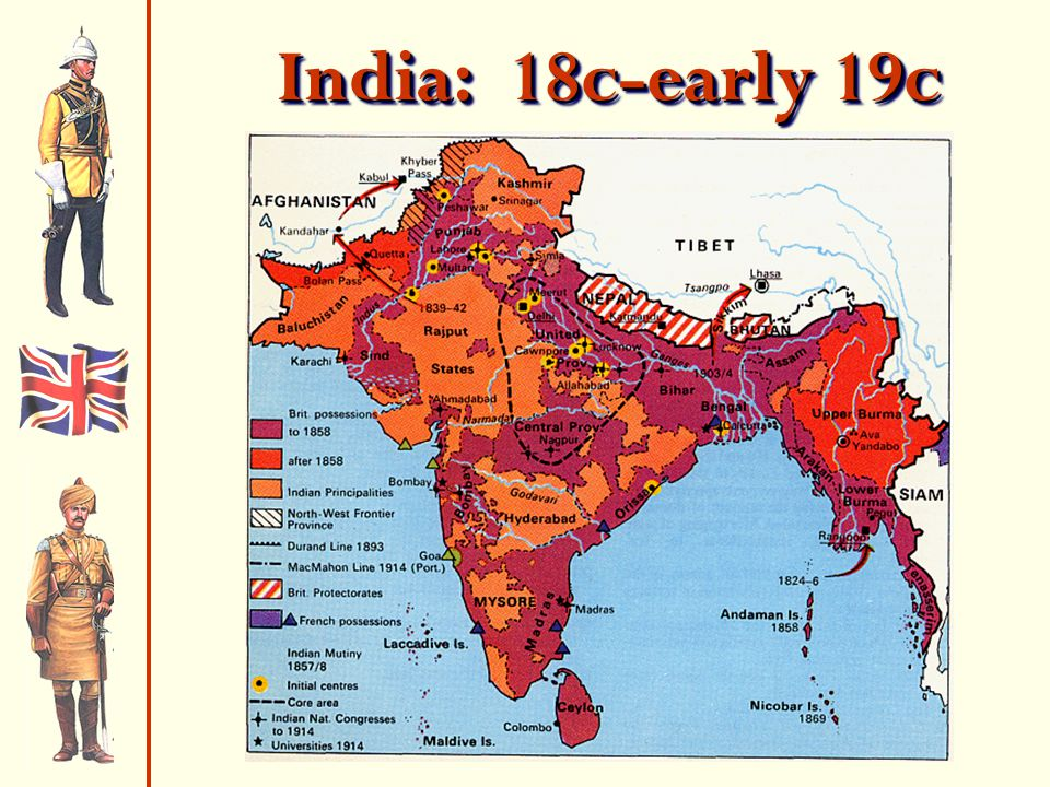 India: 18c-early 19c