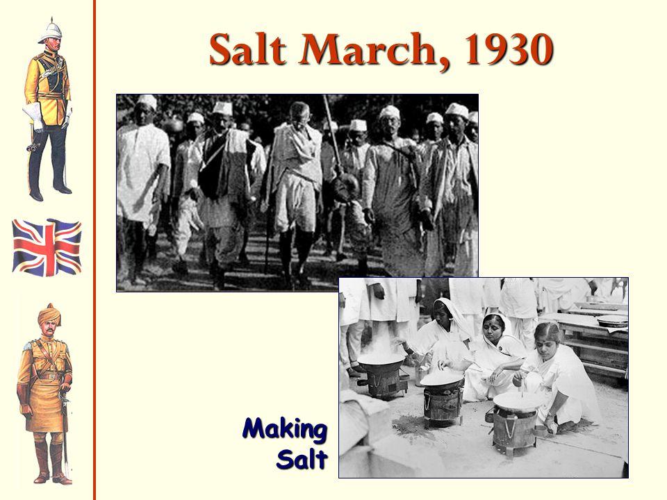 Salt March, 1930 Making Salt