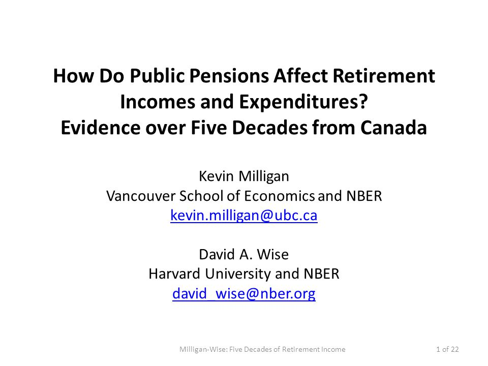 Motivation What impact does public pension income have on wellbeing.