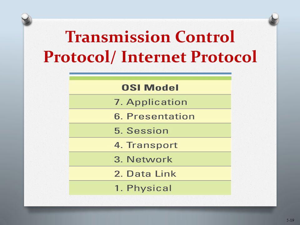 5-19 Transmission Control Protocol/ Internet Protocol