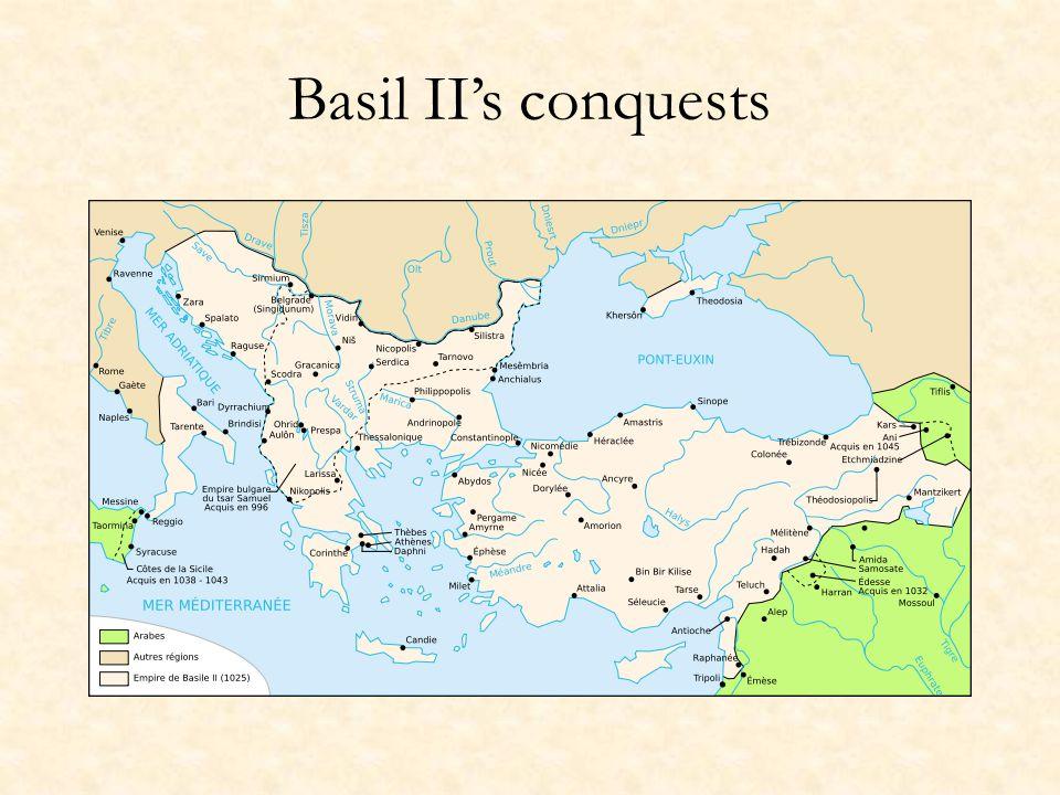 Basil II's conquests