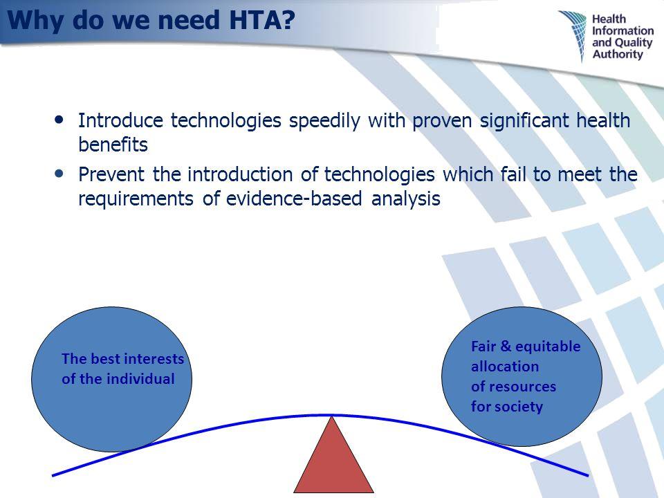 Why do we need HTA.