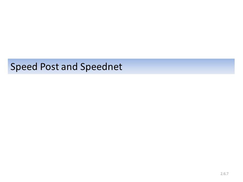 Speed Post and Speednet 2.6.7