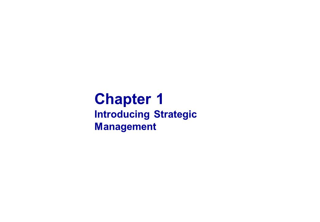 3 OBJECTIVES 1 2 3 4 5 Understand why we study strategic management Recognize the difference between a fundamental and a dynamic competitive advantage Describe the determinants of competitive advantage Understand the relationship between strategy formulation and implementation Understand what a strategy is and identify the difference between business-level and corporate- level strategy
