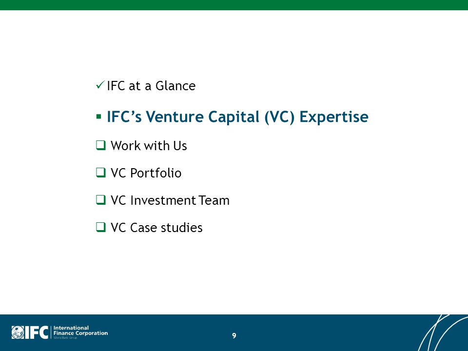 IFC VC – Overview of Committed Investments to date Fluidic Energy $7 MM Equity CVentures $8 MM Equity Kaiima $10 MM Equity … Organica $4 MM Equity QD Jason $6 MM Equity Ecolibrium $1 MM Equity Infuse Capital $5 MM Haitai $9 MM Equity Microvast $25 MM Equity Sunpreme Silicon $25 MM Equity Attero Recycling $5 MM Equity & Convertible Shuoren Energy $8 MM Equity …… Husk Power Systems $0.4 MM Convertible Applied Solar $10 MM debt, $5MM Equity, $3.3 MM Equity Azure Power $4.5 MM Equity, $5.5 MM Convertible, $1.84 MM Rights Issuance Brazil, 2013 World, 2014 World, 2013World, 2012 Sri Lanka, 2012 China, 2013 India, 2012 China, 2011 India, 2010 India, 2010-2012 India, 2010 China, 2009 20 TPG ART $25 MM Equity …… World, 2013 Nereus Capital $20 MM Equity Sinogreen Fund $20 MM Equity SINOGREEN FUND Kalkitech $1.35 MM Equity … RenewGen Ventures $2.2 MM Project equity China, 2012 India, 2012 Tianren Ecology $8.5 MM Equity …… China, 2013