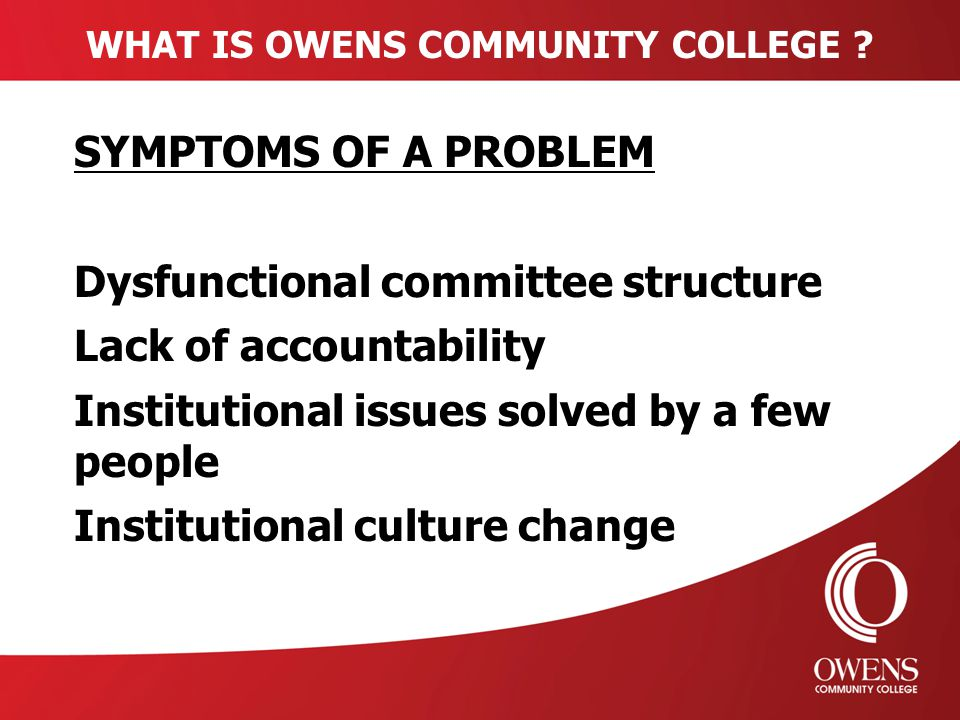 WHAT IS OWENS COMMUNITY COLLEGE .