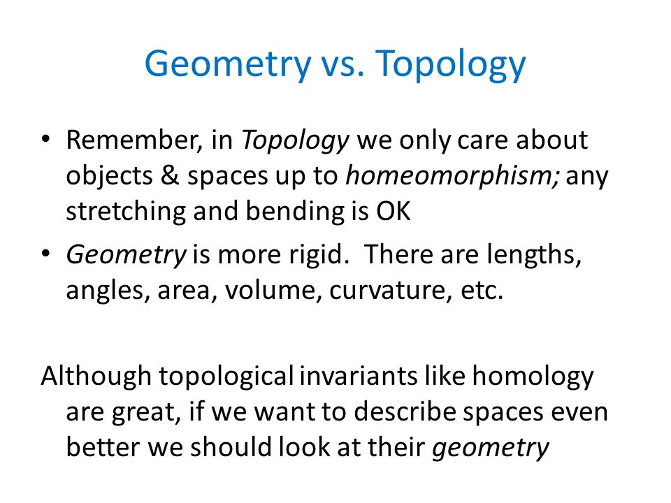 Geometry vs.
